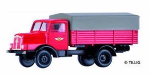 【送料無料】模型車 モデルカー スポーツカー トラックハイボードプラットフォームtillig 19009 lkw h3a hochbordpritsche plane feuerwehr, tt