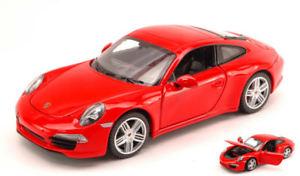 【送料無料】模型車 モデルカー スポーツカー ポルシェモデルporsche 911 red 124 model rastar