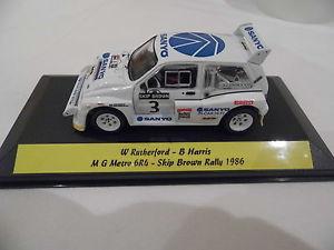 【送料無料】模型車 モデルカー スポーツカー コードネットワークメトロスキップブラウンラリーレースモータースポーツcode 3 ixo 143 mg metro 6r4 rutherford 1986 skip brown rally race motorsport