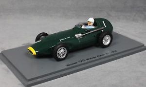 【送料無料】模型車 モデルカー スポーツカー スターリングモスオランダグランプリspark vanwall vw57 dutch grand prix winner 1958 stirling moss s4870 143