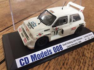 【送料無料】模型車 モデルカー スポーツカー モデルメトロコスタスメラルダラリーエドcd models 008 mg metro 6r4 costa smerelda rally 1986 fielding ltd ed 143