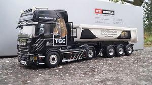 【送料無料】模型車 モデルカー スポーツカー トップライントレーラーベルンwsi scania r topline halfpipe tipper trailer tgc bern  150
