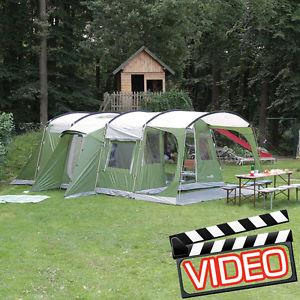 【送料無料】キャンプ用品 トンネルテントskandika saturn 6 personman family tunnel tent sewnin groundsheet green