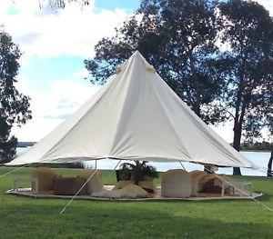 【送料無料】キャンプ用品 mキャンバスベルテントパーティエントリ345m cotton canvas waterpoof bell tents glamping party wedding electric entry