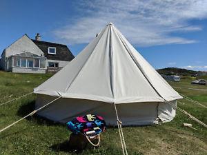 【送料無料】キャンプ用品 4mキャンバステント 450gsm4m canvas bushcraft bell tent 450gsm