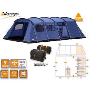 【送料無料】キャンプ用品 vangoモンテverdeシグネチャー90029テントvango monte verde signature 900 blue 9 person tent used twice very sturdy