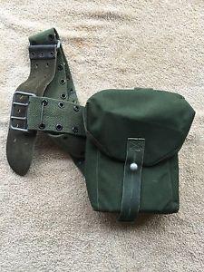 【送料無料】キャンプ用品 モダンヴィンテージvintage webbing side pouch army surplus mod military fishing hunting shooting