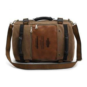 【送料無料】キャンプ用品 トラベルキャンバスラージショルダーバッグリュックサックリュックサックハンドバッグ