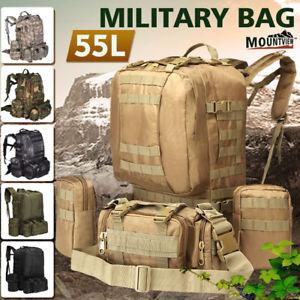 【送料無料】キャンプ用品 バッグ55ポンドハイキングリュックサックバックパックcamo