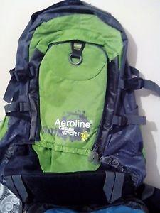 【送料無料】キャンプ用品 5 35ポンドメッシュポケットリュックサックバックパックラップトップバッグ