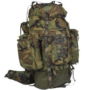 【送料無料】キャンプ用品 teesarバックパック100ポンドパトロールナイロンベルゲンリュックサックウッドランドcamo
