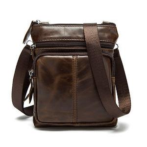 【送料無料】キャンプ用品 ビンテージカジュアルショルダーバッグメッセンジャーバッグハンドバッグmen genuine leather vintage casual shoulder bag messenger crossbody bags handbag