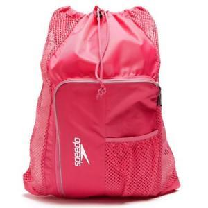 【送料無料】キャンプ用品 バッグピンクメッシュ35ポンドspeedo ventilation mesh 35l swimming bag pink