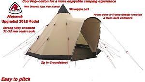 【送料無料】キャンプ用品 アップグレードモデルキャンプクールrobens mohawk 10 personman tipi upgraded 2018 model cool polycotton camping