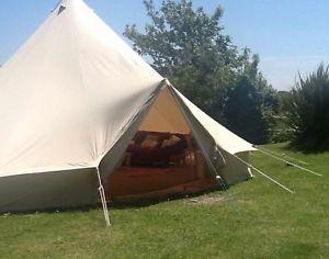 【送料無料】キャンプ用品 100コットン7mテントテントブティックグラウンドシートジッパー100 cotton 7m bell tent with zipped in ground sheet by bell tent boutique