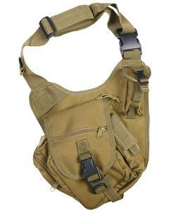 【送料無料】キャンプ用品 コンバットショルダーバッグコヨーテkombat tactical shoulder bag coyote