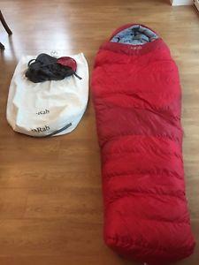 【送料無料】キャンプ用品 ラブ900rab ascent 900 down sleeping bag red