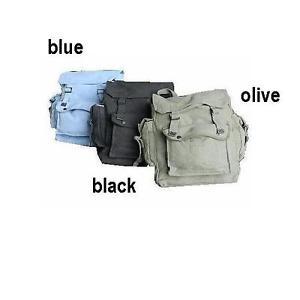 【送料無料】キャンプ用品 ポケットキャンバスバックパックリュックサック ̄ ̄bp007