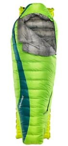 【送料無料】キャンプ用品 ジェミニグリーンlistingthermarestクエスターhd listingthermarest questar hd down sleeping bag, long gemini green