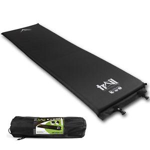 【送料無料】キャンプ用品 キャンピングマットキャンプロールマットレスsingle self inflating camping mat inflatable sleeping camp roll mattress 3cm