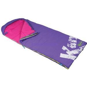 【送料無料】キャンプ用品 kampaビーナスkampa venus junior envelope sleeping bag light purple colour
