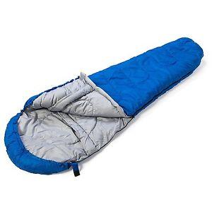 【送料無料】キャンプ用品 3 4キャンプ400ミイラsleeping bag lightweight mummy for adult 400 blue sleepover 3 4 season camping