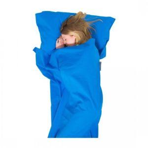 【送料無料】キャンプ用品 ライフベンチャー100ライナーミイラlifeventure 100 cotton sleeping bag liner travel sleeper mummy blue
