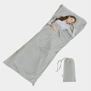 【送料無料】キャンプ用品 ライナー バッグシートsoft sleeping bag liner lightweight travel sheet camping sleep bag