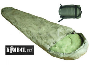 【送料無料】キャンプ用品 コンパクトarmy combat military compact lightweight travel camping sleeping bag olive green