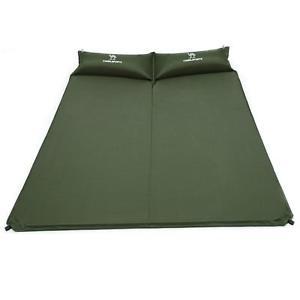 【送料無料】キャンプ用品 ダブルキャンプマットベッドマットレスdouble selfinflating camping roll mat camp bed inflatable sleeping mattress