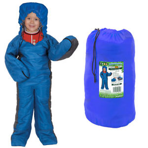 【送料無料】キャンプ用品 childs 155cm3シーズン  kids bluechilds 155cm summit motion sac wearable 3 season sleeping bag kids blue