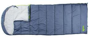 【送料無料】キャンプ用品 kampaxl100kampa kip zenith xl envelope single sleeping bag kip 100 cotton lining