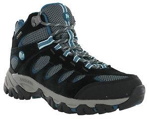 【送料無料】キャンプ用品 womensブーツuk3545merrellridgepassゴアテックスメッシュmerrell ridgepass mid goretex leather mesh walking trail womens boots uk3545
