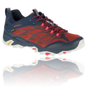 【送料無料】キャンプ用品 ハイキングmerrellモアブfst menstexmerrell moab fst mens red blue waterproof gore tex walking hiking shoes