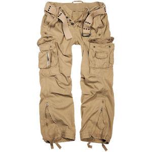 【送料無料】キャンプ用品 branditヴィンテージズボンベルトズボンベージュbrandit royal vintage trousers combat work casual cotton army belt pants beige