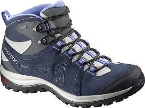 【送料無料】キャンプ用品 gtxウォーキングソロモン2 salomon ellipse 2 mid leather gtx ladies walking boots navy