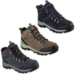 【送料無料】キャンプ用品 スケッチャーズrelment pelmoメモリハイキングmensskechers relaxed fit relment pelmo boots waterproof memory foam hiking mens shoe