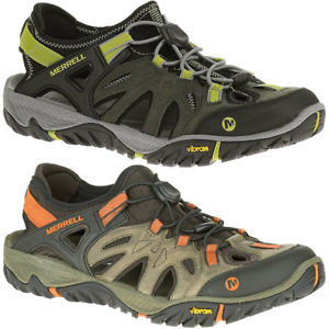 【送料無料】キャンプ用品 メンズウォーキングシューズmerrell mens all out blaze sieve water draining leather walking shoes