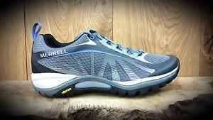 【送料無料】キャンプ用品 merrellサイレンwomensウォーキングシューズトレーナーmerrell siren edge womens grey walking shoes trainers