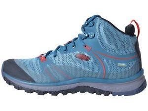 【送料無料】キャンプ用品 terradorawomensハイキングブーツアオサンゴkeen terradora mid waterproof womens hiking boots blue coralfiery red