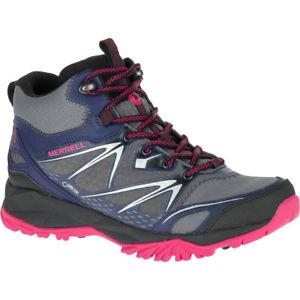 【送料無料】キャンプ用品 ゴアテックスmerrell womenscapraボルトmerrell womensladies capra bolt mid goretex waterproof walking boots