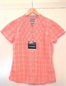 【送料無料】キャンプ用品 ショートスリーブシャツピンクホワイトwomens bnwt craghoppers almondbury short sleeve grandad shirt 14 pinkwhite