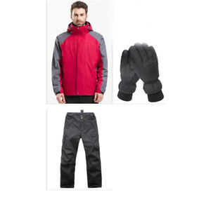 【送料無料】キャンプ用品 レッドハイキングキャンプジャケットパンツグローブ