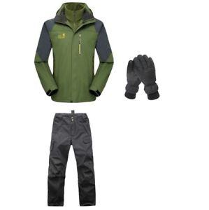【送料無料】キャンプ用品 アーミーグリーンハイキングキャンプジャケットパンツグローブ
