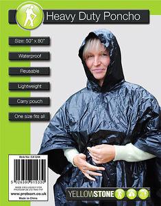 【送料無料】キャンプ用品 ヘビーデューティポンチョ×キャリーバッグサイズheavy duty poncho 50 x 80 waterproof reusable lightweight carry pouch one size