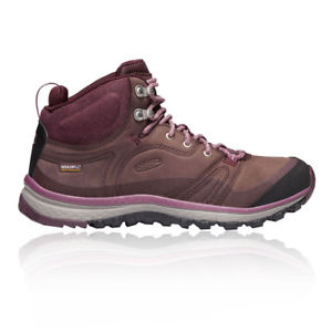 【送料無料】キャンプ用品 レザーミッドブーツブラウンパープルスポーツウォーキングkeen womens terradora leather mid waterproof walking boots brown purple sports