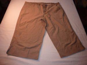 【送料無料】キャンプ用品 コロンビアサイズカーキグリーンクロップパンツcolumbia size l 38w womens khaki green crop trousers