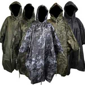 【送料無料】キャンプ用品 ポンチョキャンプハイキングwaterproof us army hooded ripstop festival rain poncho military camping hiking