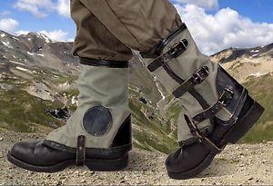 【送料無料】キャンプ用品 キャンバスレザーアーミーブーツブートスパッツスパッタガード1960s canvas amp; leather army gaiters boot shoe spats spatterdashes spatter guards
