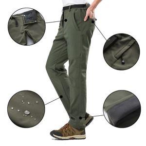 【送料無料】キャンプ用品 メンズソフトシェルパンツフリースハイキングゴルフズボンクライミングmens soft shell winter pants fleece warm climbing hiking golf trousers 2018